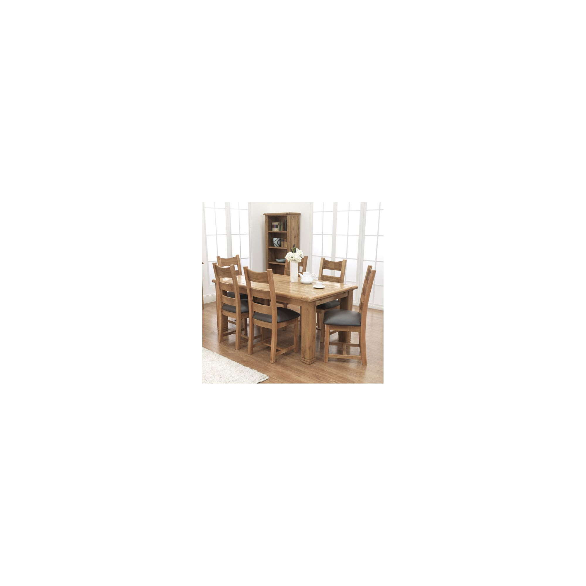 Furniture Link Danube 7 Piece Solid Oak Extending Dining Set