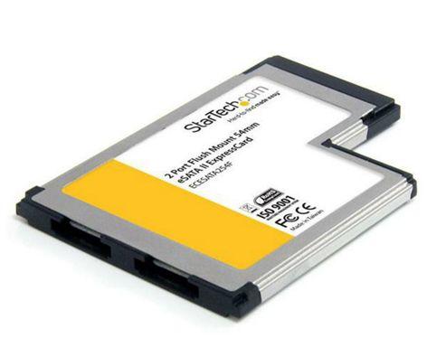 StarTech 2-Port Flush Mount ExpressCard eSATA II Controller Card