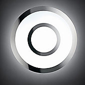 Lucente Sao Flush Wall / Ceiling Light in Chrome