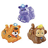 VTech Toot Toot Animals 3 Pack Tiger, Hippo, Monkey