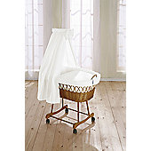 Leipold Wendy Wicker Drape Crib in White