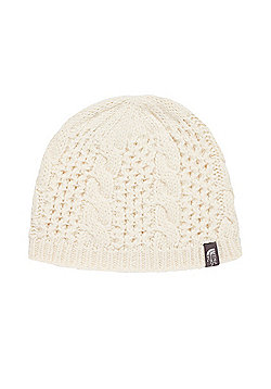 The North Face Ladies Cable Minna Beanie - White