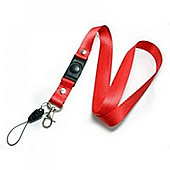 Red Phone Holder Lanyard