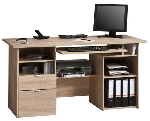 Buy maja kensington oak computer desk from our office desks tables range tesco - Tesco office desk ...