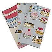 Pack of 3 Tea & Treats Tea Towels