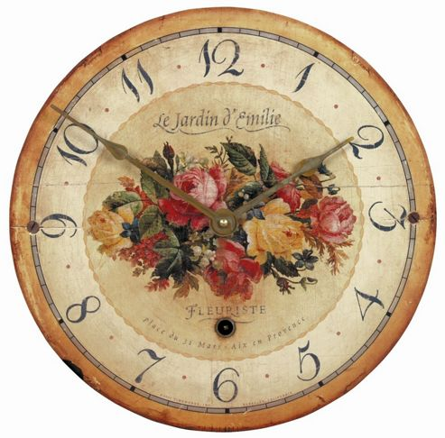 Roger Lascelles Clocks Emilie Rose Wall Clock