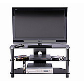 ALPHASON ESSENTIAL, 3 SHELF BLACK TV STAND FOR TV'S UP TO 32""