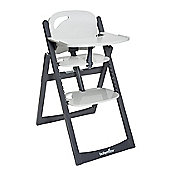 BabyMoov Light Wood High Chair - Zinc