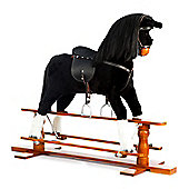 Large Black Rocking Horse Shadow