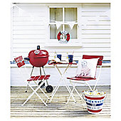 St Ives 3-piece Bistro Set, Red & White