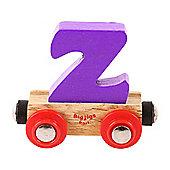 Bigjigs Rail Rail Name Letter Z (Purple)