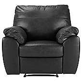 Alberta Leather Recliner Armchair, Black