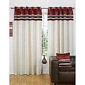 Dreams n Drapes Kendal Red 46x72 Eyelet Lined Eyelet Curtains
