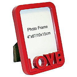 Love Red Photo Frame 4 x 6""
