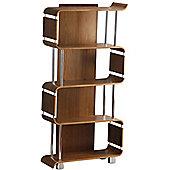 Jual Curve - Walnut Bookshelf with Chrome Supports