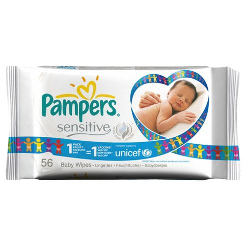 Pampers Sens Baby Wipes 56Pk