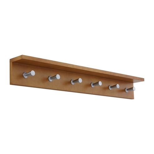 Safco Six Hook Contempo Wood Coat Rack