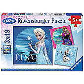 Disney Frozen 3x49 Piece Puzzles