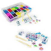 TwitFish ColourMania Loom Bandz Box Kit - Includes 4000 Bands, Assorted Charms, S-Clips, Hook Tools, Loom Base