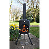 Large steel bonfeu chimenea