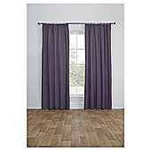 Blackout Pencil Pleat Curtains - Heather - 66 X 72