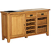 AlpenHome Millais Petite 1 Door, 2 Drawer Sideboard