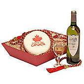 canadian cake & wine hamper (OC22)