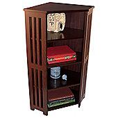 Mission - Corner Cd Dvd Blu-ray Media Storage Shelf Unit - Dark