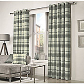 Curtina Belvedere Lined Charcoal Curtains - 90x72 Inches