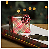 Tartan Christmas Wrapping Paper, 4m