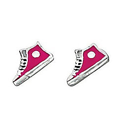 Pink High Tops Stud Earrings
