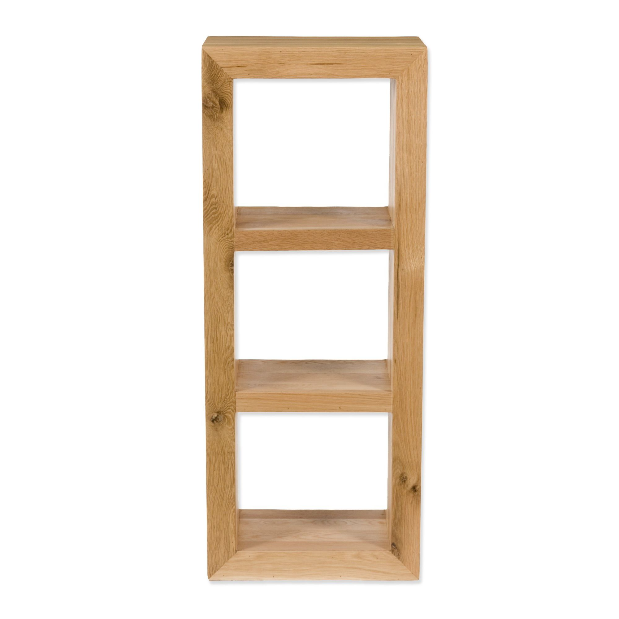 Elements Ashgrove Three Hole Vertical Shelving Unit in Natural Lacquer at Tesco Direct