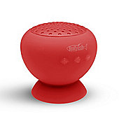 Twitfish Stick 'n' Play Mushroom Bluetooth Speaker - Red