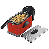 Elgento E17001R 3 Litre Stainless Steel Fryer, 2000W, Red