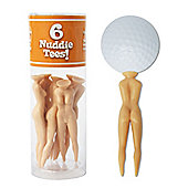 Second Chance 6 Nuddie Joke Golf Tees