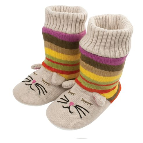 Knitted Bootie Cat Slippers