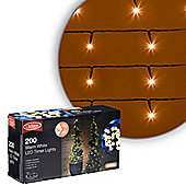 Simply Christmas 200 LED Battery Timer Lights (Warm White)