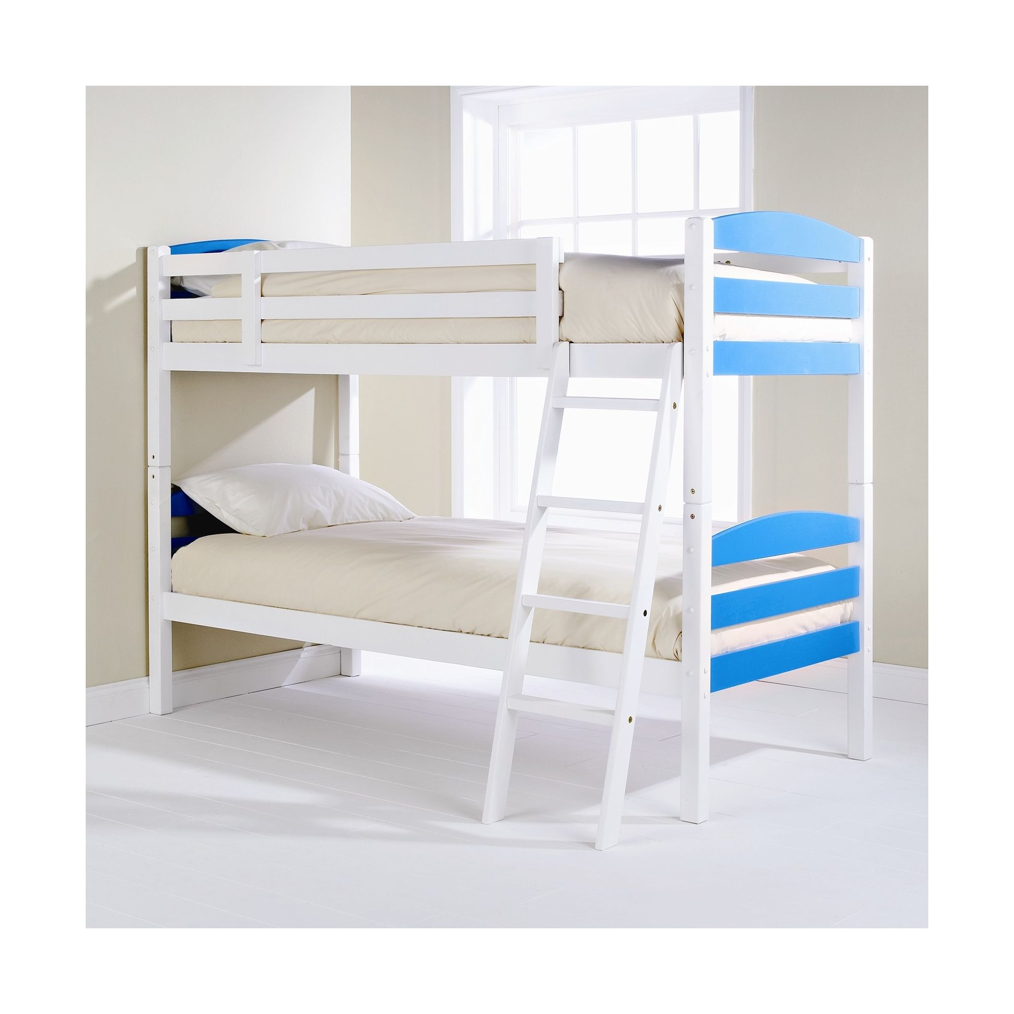 Elements Childrens Bunk Bed - Blue / White at Tesco Direct
