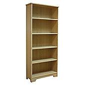 Five Shelf Bookcase / Display Storage - Beech