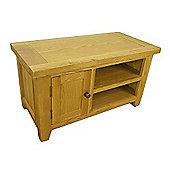 Tresco Waxed Small Oak TV Unit / Oak TV Stand