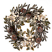 White Berry & Cone Christmas Wreath