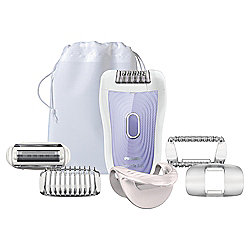 Philips SatinSoft HP6523/03 Wet & Dry Epilator with Shaving Attachment