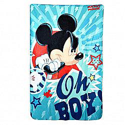 Disney Mickey Mouse 'Oh Boy' Panel Fleece Blanket