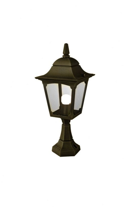 Elstead Lighting Chapel Pedestal Lantern - Black/Gold