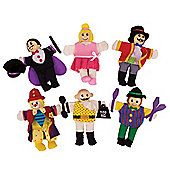 Bigjigs Toys BJ780 Entertainers Finger Puppets