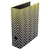 Monochrome Gradiant Black Zig Zag Leverarch