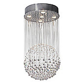 Modern Crystal Ball Ceiling Light with Spheres and Beads