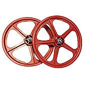 "Skyway Tuff II Red 20"" BMX Wheelset"