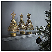 TESCO SPARKLE TREES 3PK