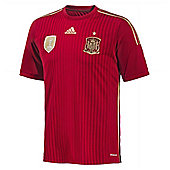 2014-15 Spain Home World Cup Football Shirt - Red